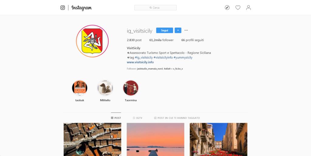 pagina instagram @ig_visitsicily